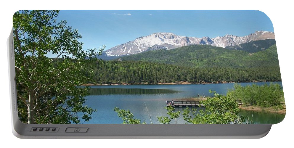 Colorado Portable Battery Charger featuring the photograph Pike's Peak by Anita Burgermeister