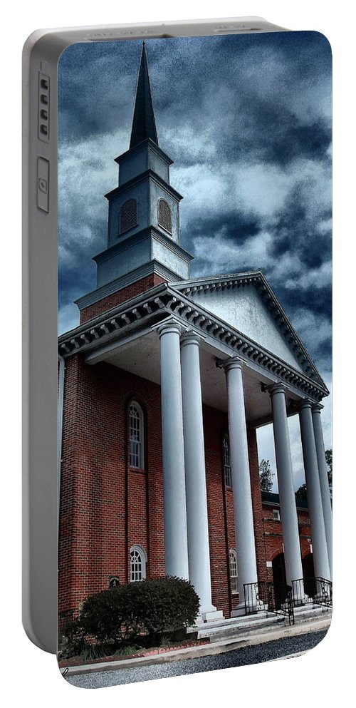 Architecture Portable Battery Charger featuring the photograph Pillars by Gina Welch