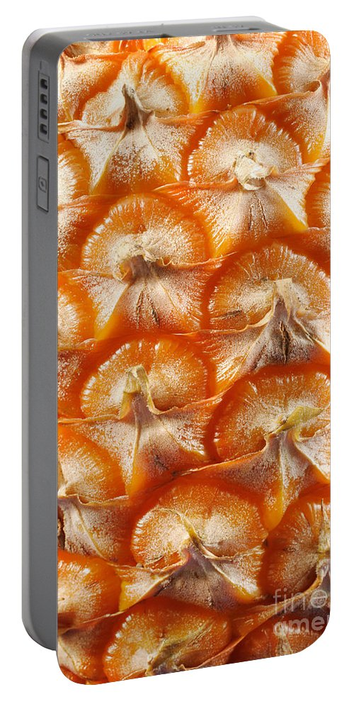 Pineapple Portable Battery Charger featuring the photograph Pineapple Skin Texture by Gaspar Avila