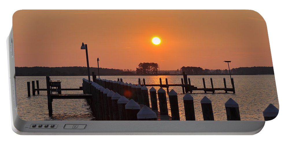 Piney Point Portable Battery Charger featuring the photograph Piney Point Sunrise by Bill Cannon