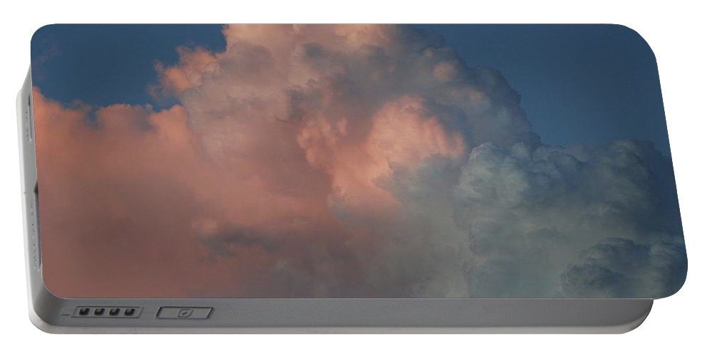 Clouds Portable Battery Charger featuring the photograph Pink And Grey by Rob Hans