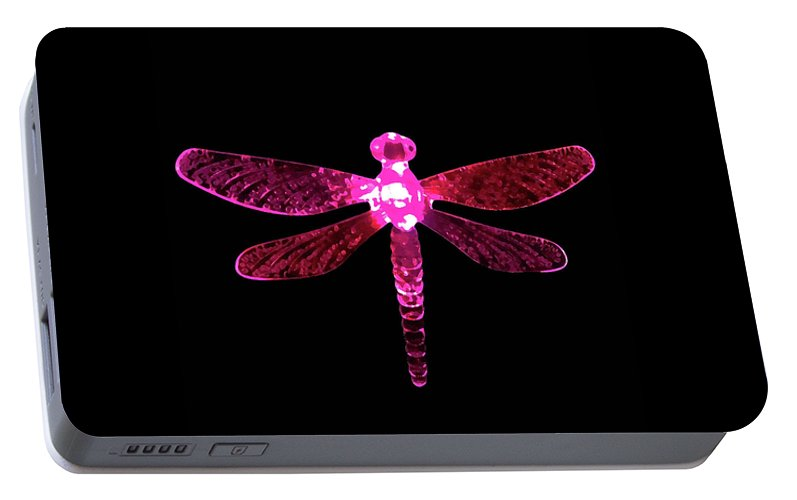 Pink Dragonfly Portable Battery Charger