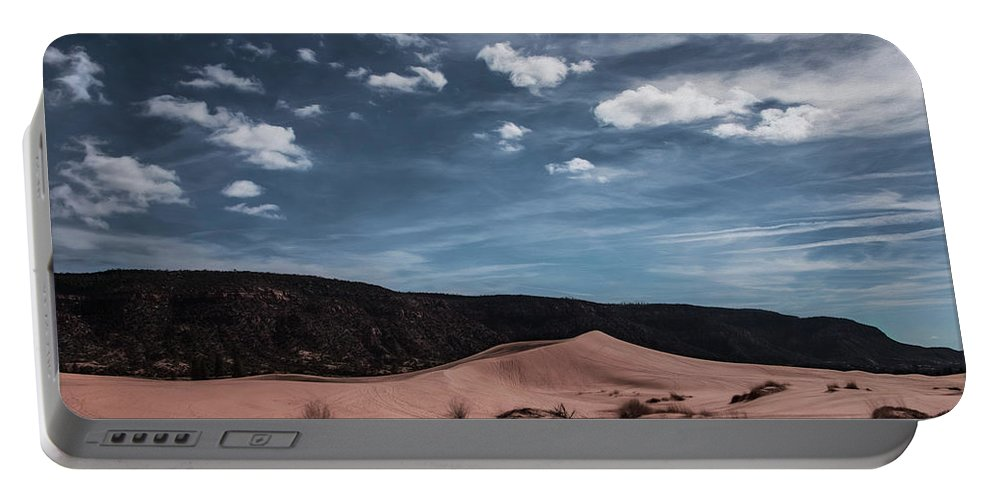 Pink Sand Dunes Portable Battery Charger featuring the photograph Pink Sand Dunes Np by Erika Fawcett