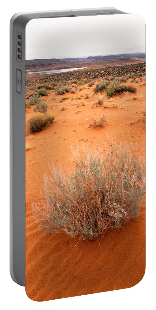 Lake Powell Portable Battery Charger featuring the photograph Pink Sand Of Lake Powell by Jerry McElroy