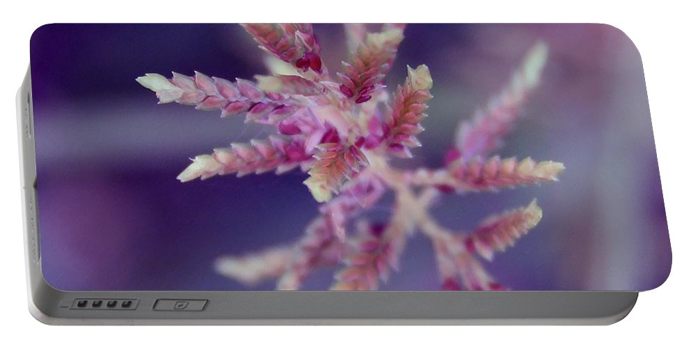 Nature Portable Battery Charger featuring the photograph Pink Weed by Linda Sannuti