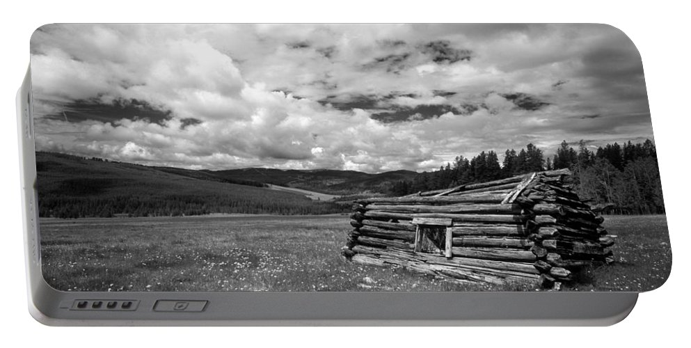 Old Cabin Portable Battery Charger featuring the photograph Pioneer Cabin by Leland D Howard