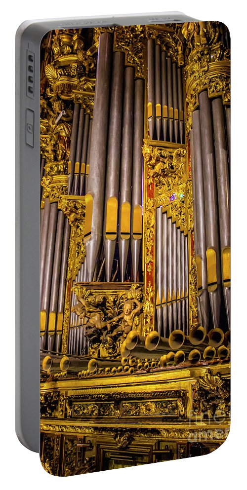 Pipe Organ Portable Battery Charger featuring the photograph Pipe Organ Detail by Roberta Bragan