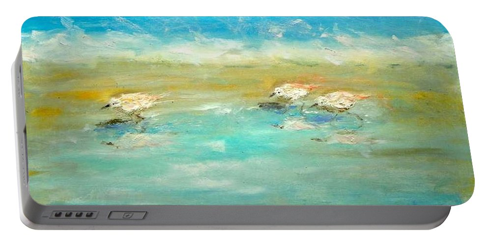 Pipers Portable Battery Charger featuring the painting Pipers by Paul Emig