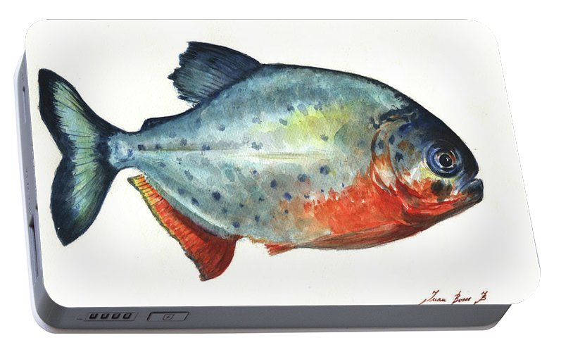 Piranha Fish Portable Battery Charger