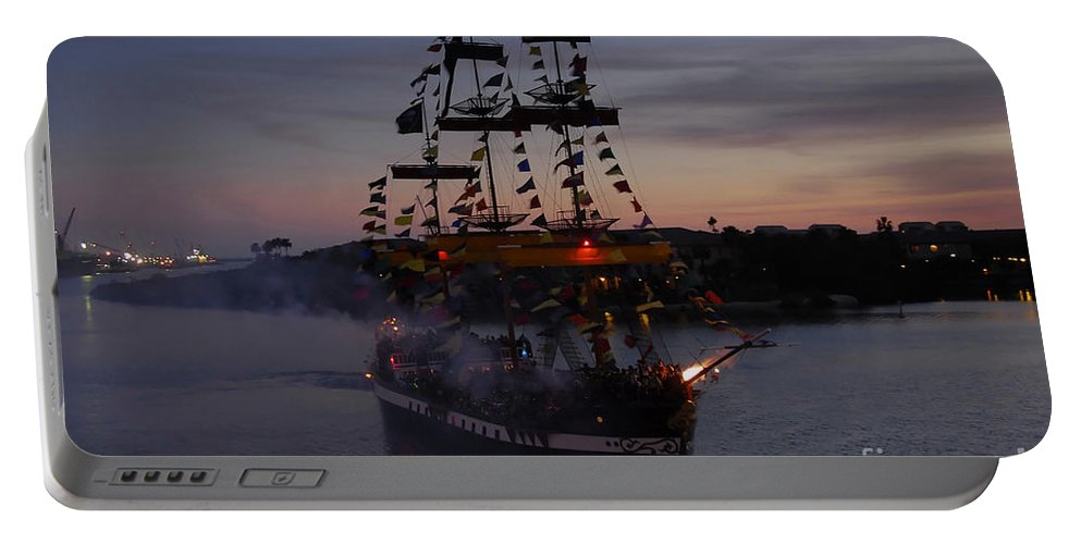Pirates Portable Battery Charger featuring the photograph Pirate Invasion by David Lee Thompson