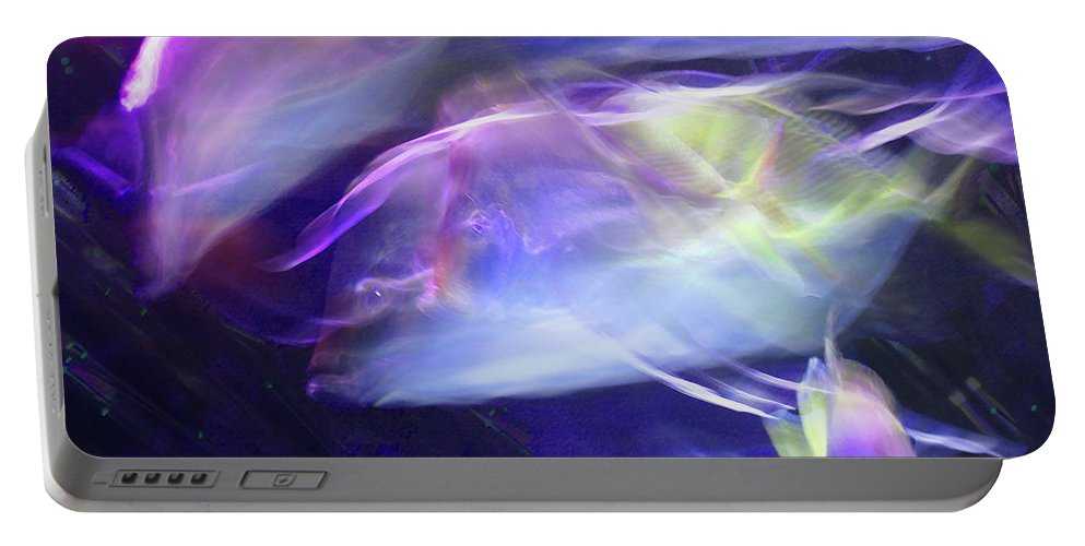 Abstract Portable Battery Charger featuring the photograph Pisces by Steve Karol