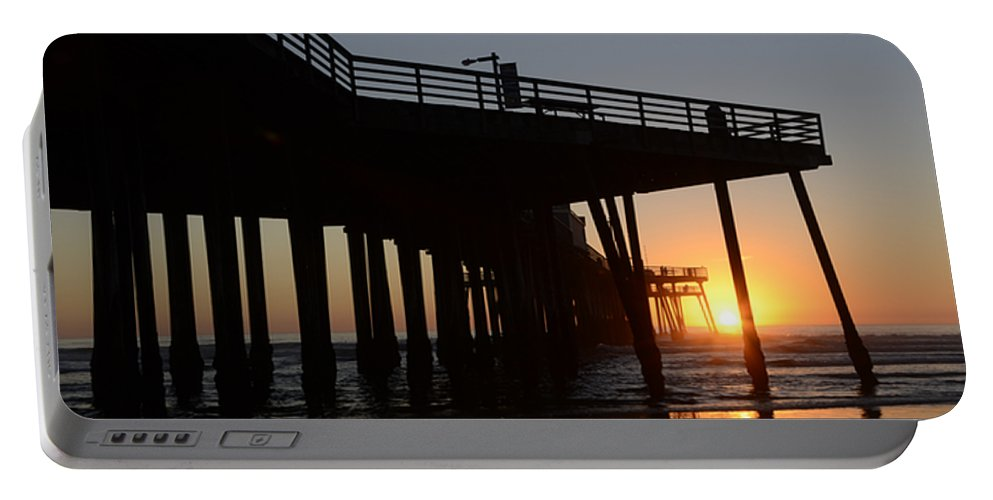 Pismo Portable Battery Charger featuring the photograph Pismo Beach Pier California 2 by Bob Christopher