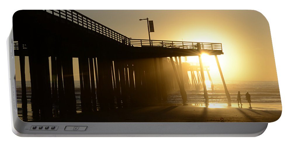 Pismo Portable Battery Charger featuring the photograph Pismo Beach Pier California 8 by Bob Christopher