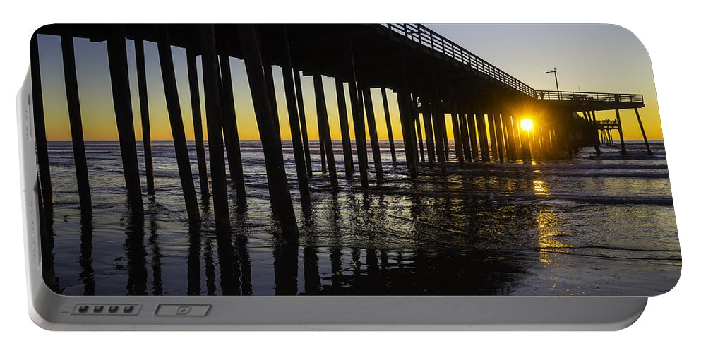 Pismo Beach Portable Battery Charger featuring the photograph Pismo Sunset Wharf by Garry Gay