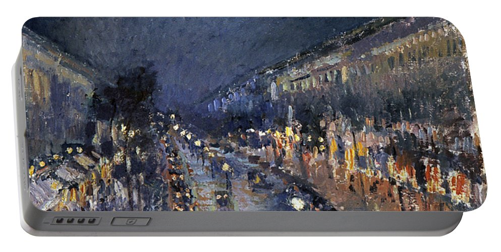 1897 Portable Battery Charger featuring the photograph Pissarro: Paris At Night by Granger