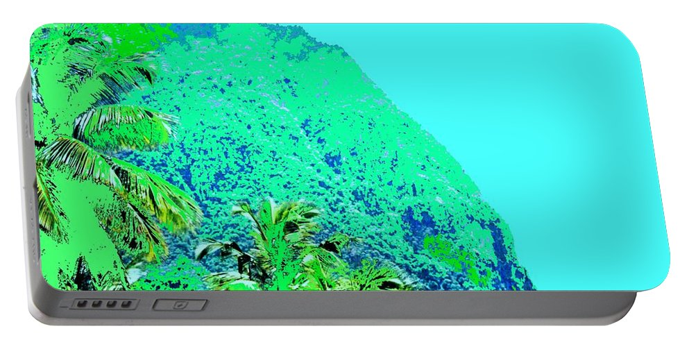 Pitons Portable Battery Charger featuring the photograph Pitons by Ian MacDonald