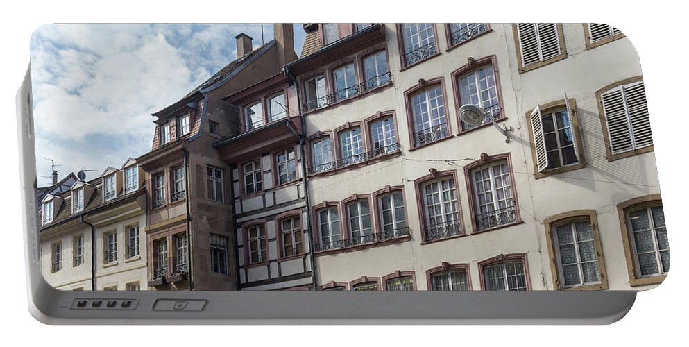 Alsace Portable Battery Charger featuring the photograph Place Gutenberg Cityscape by Teresa Mucha