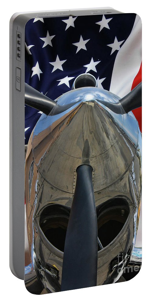 P-40 Portable Battery Charger featuring the photograph Planes Of Fame P-40c Warhawk by Tommy Anderson
