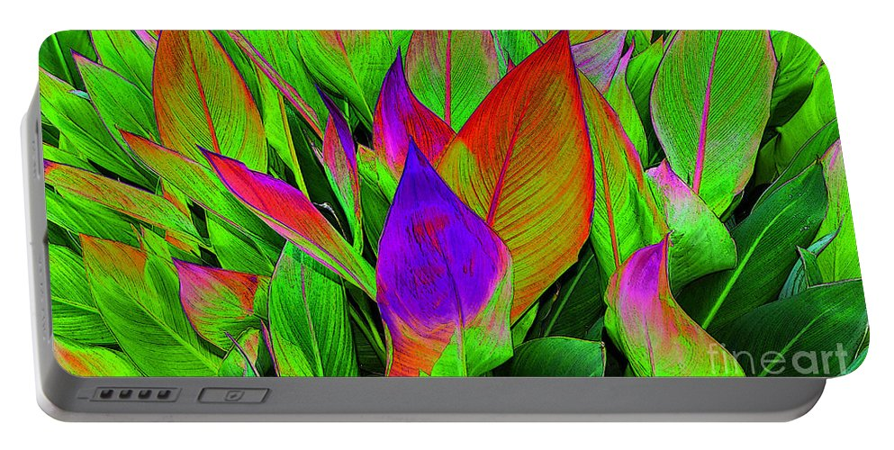 Art Portable Battery Charger featuring the painting Plant Details by David Lee Thompson