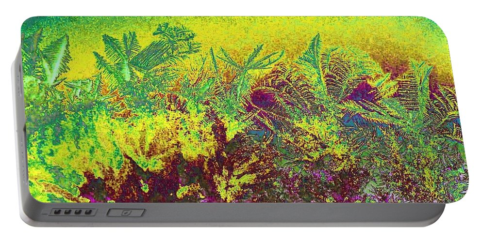 Frost Portable Battery Charger featuring the digital art Plantation by Will Borden