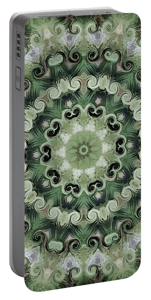 Mandala Art Portable Battery Charger featuring the painting Planting by Jeelan Clark