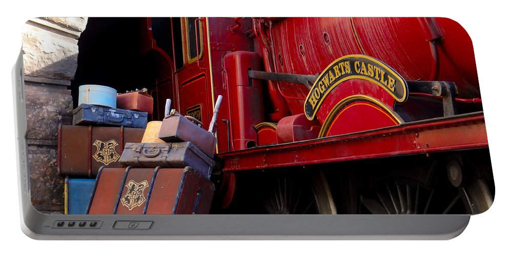 Train Portable Battery Charger featuring the photograph Platform Nine And Three Quarters by Julia Wilcox