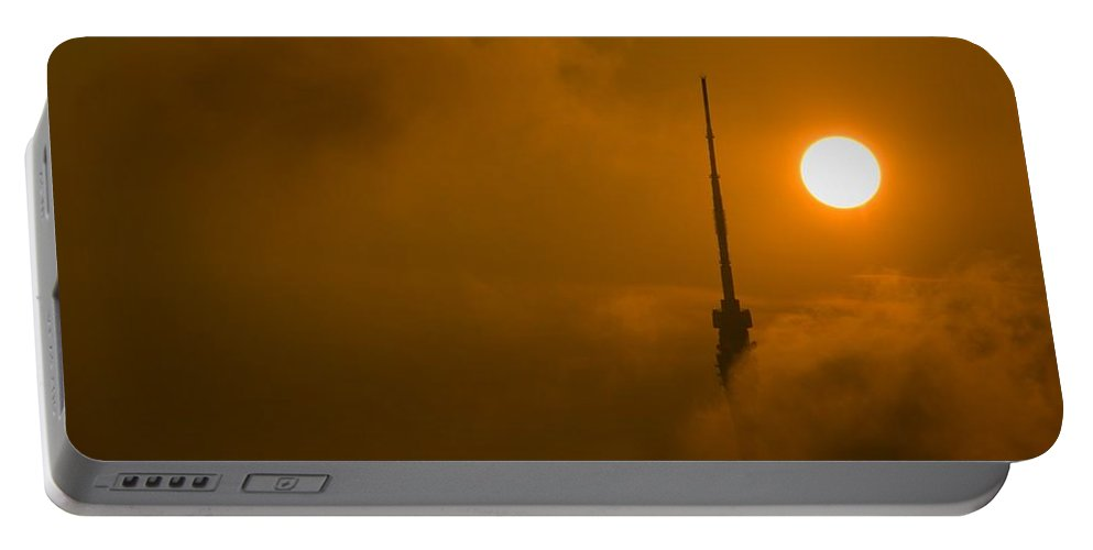 Cloud Portable Battery Charger featuring the photograph Play With The Clouds by Max Steinwald