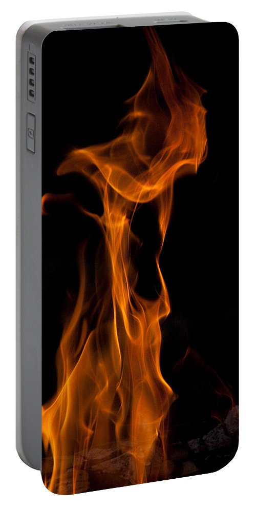 Night Portable Battery Charger featuring the photograph Playing With Fire 2 by David Campbell