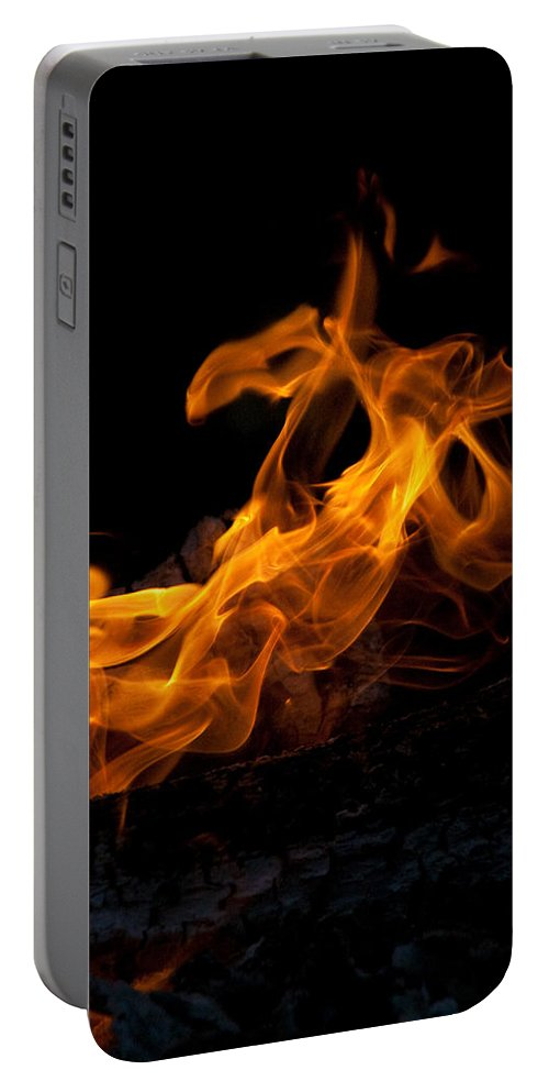 Night Portable Battery Charger featuring the photograph Playing With Fire by David Campbell