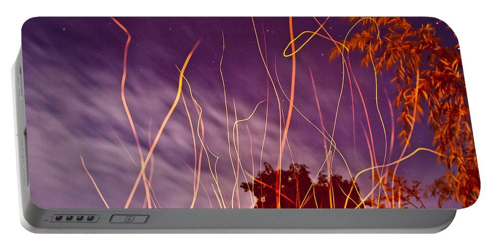 Stars Portable Battery Charger featuring the photograph Playing With Fire I by Albert Seger