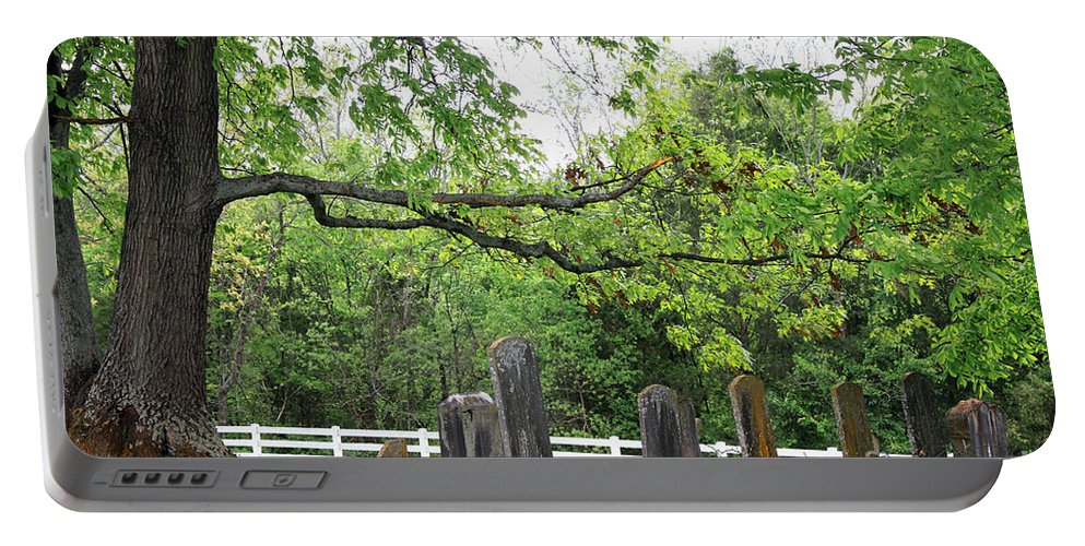 Landscape Portable Battery Charger featuring the photograph Pleasant Forest Cemetery by Todd Blanchard