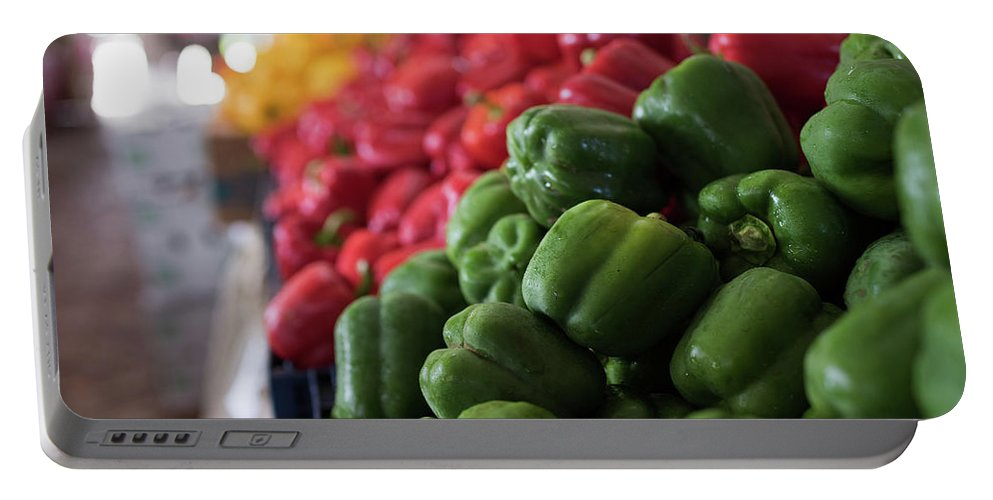 Food Portable Battery Charger featuring the photograph Plethora Of Peppers by Kendra Susan