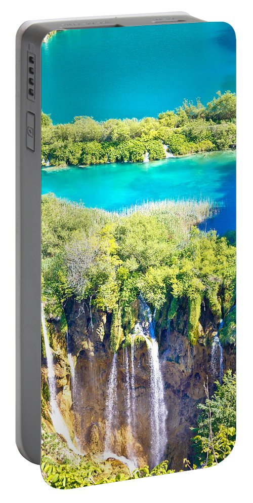 Croatia Portable Battery Charger featuring the photograph Plitvice Lakes National Park Vertical View by Brch Photography