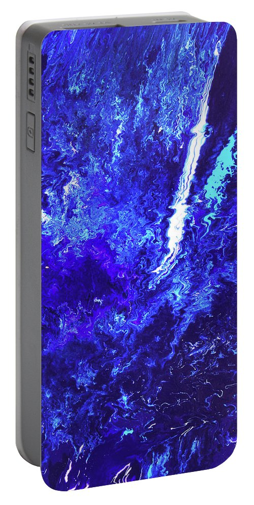 Fusionart Portable Battery Charger featuring the painting Plunge by Ralph White