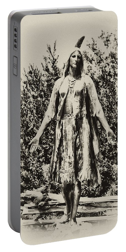 Jamestown Portable Battery Charger featuring the photograph Pocahontas by Bill Cannon
