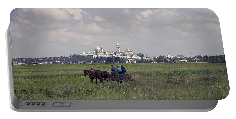 Ukraine Portable Battery Charger featuring the photograph Pochaiv Monastery Ukraine by Yuri Lev
