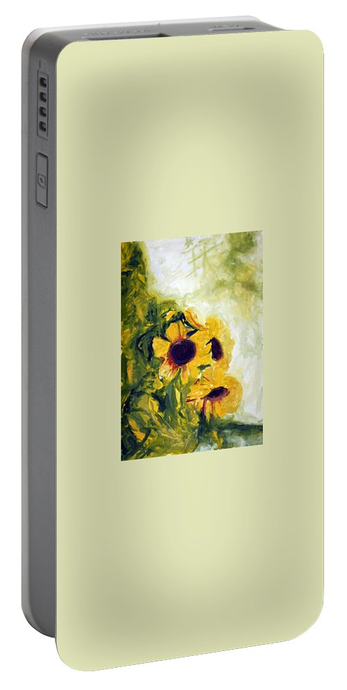 Landscape Portable Battery Charger featuring the painting pocta VvG-scetch n-1 by Pablo de Choros
