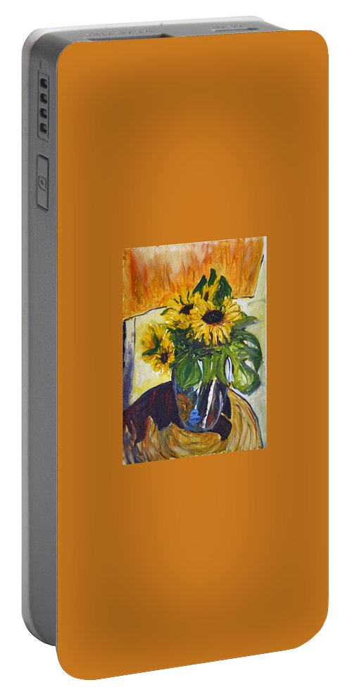 Landscape Portable Battery Charger featuring the painting pocta VvG-scetch n-3 by Pablo de Choros
