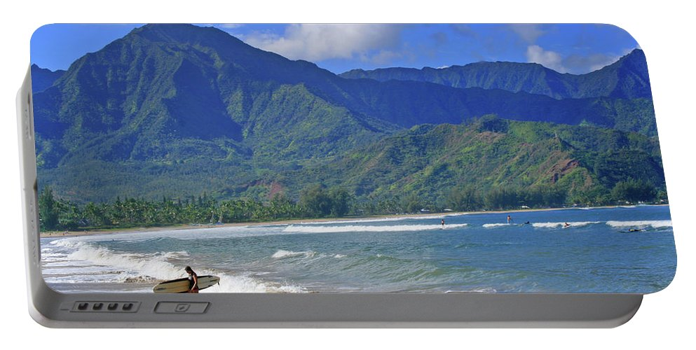Surfer Portable Battery Charger featuring the photograph Point Break by Scott Mahon