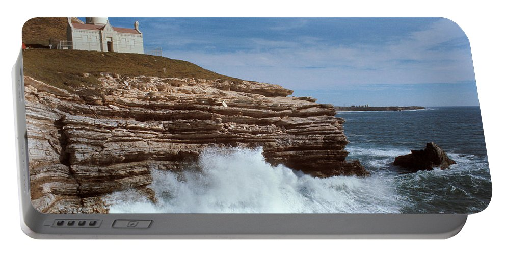 Point Conception Lighthouse Portable Battery Charger featuring the photograph Point Conception Lighthouse by Jerry McElroy
