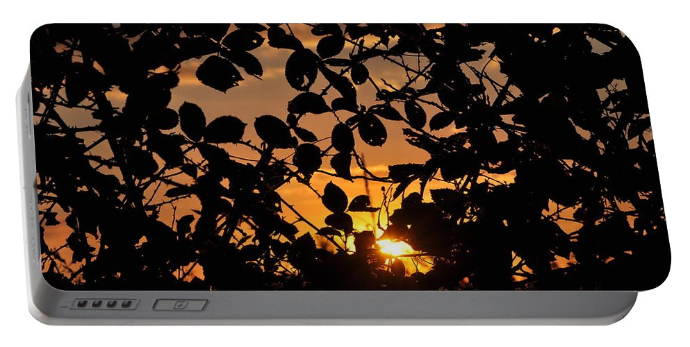 Sunset Portable Battery Charger featuring the photograph Pointed Shadow by Brittany Horton