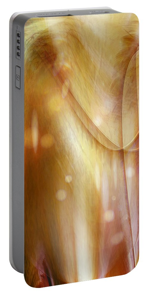Abstract Art Portable Battery Charger featuring the digital art Points Of Light by Linda Sannuti