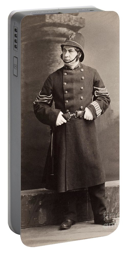 19th Century Portable Battery Charger featuring the photograph Police Officer by Granger