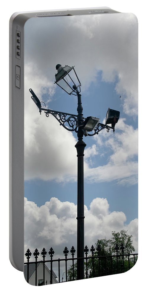 Polite Lamppost Portable Battery Charger featuring the photograph Polite Lamppost by Elena Perelman