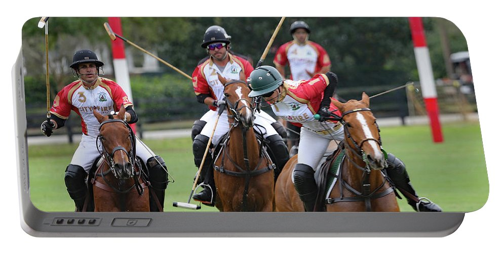 Polo Portable Battery Charger featuring the photograph Polo Match 7 by Gina Fitzhugh