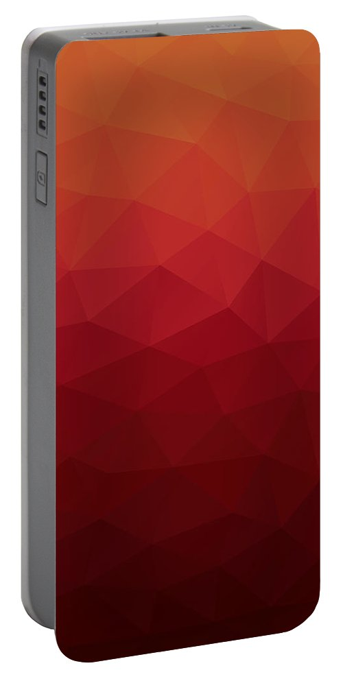 Abstract Portable Battery Charger featuring the digital art Polygon by Mike Taylor