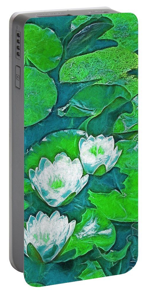 Pond Portable Battery Charger featuring the photograph Pond Lily 2 by Pamela Cooper