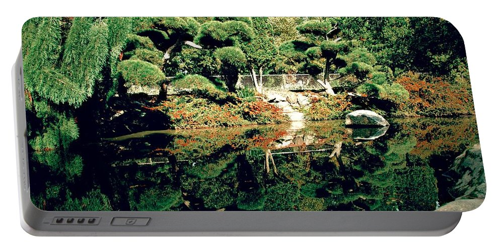 Landscape Portable Battery Charger featuring the photograph Pond Of Mirrors by David Coleman
