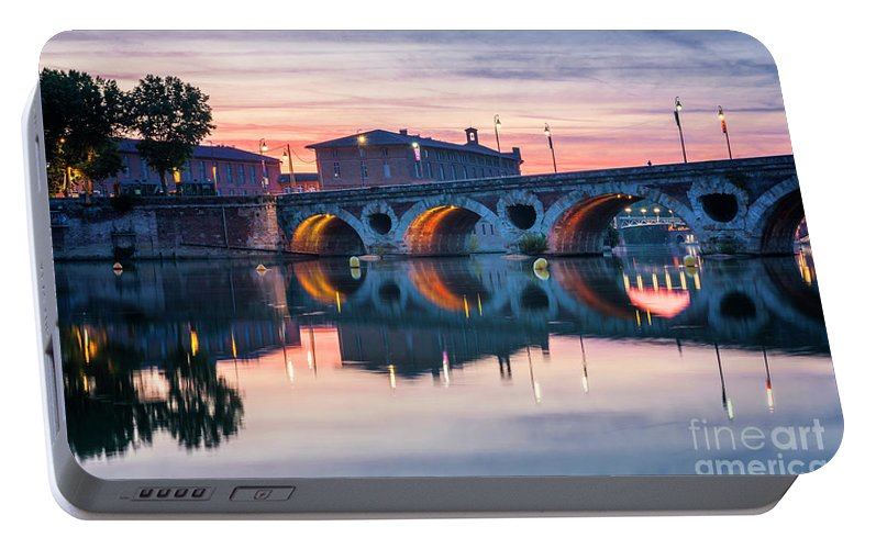 Pont Neuf Portable Battery Charger featuring the photograph Pont Neuf In Toulouse At Sunset by Elena Elisseeva