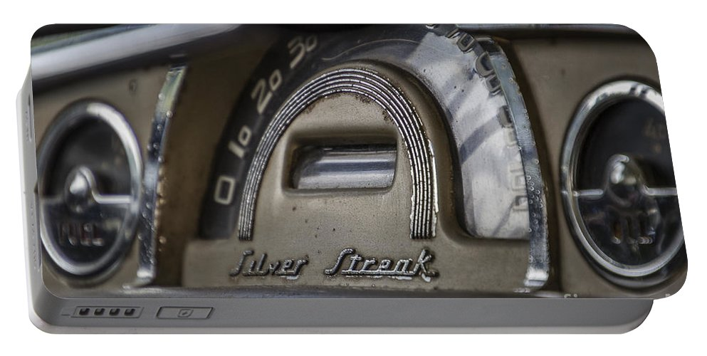 Pontiac Portable Battery Charger featuring the photograph Pontiac Silver Streak by Joann Long